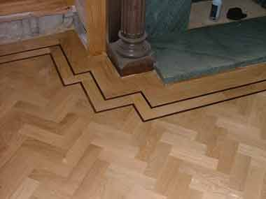 A New Block Floor With Weng Inlay @ Clent Hall